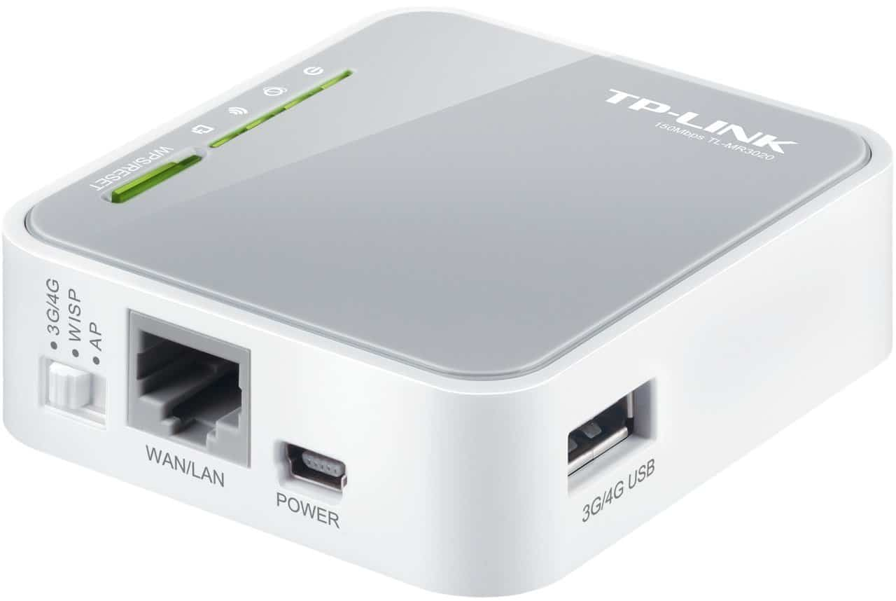 TP-Link N150 Wireless Nano Travel Router Side View