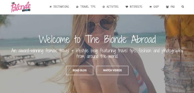 A Blonde Abroad