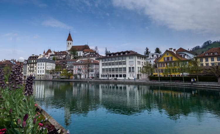Thun Old Town on the Aare River
