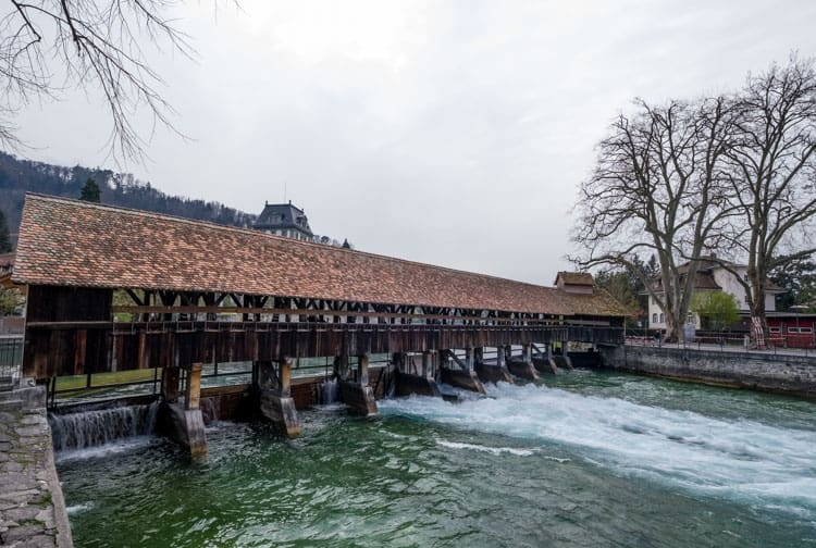 Covered Bridge leading to the old town