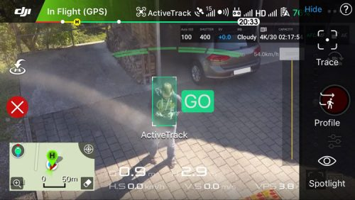 Mavic Pro Active Track Mode Options