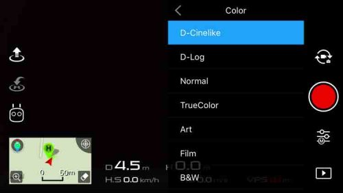 DJI Go App Color Settings