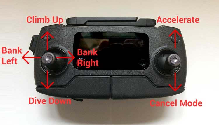 DJI Mavic Pro Controller - Fixed Wing Controls