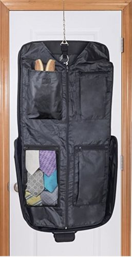 The dual-fold bag has several internal zippers and pockets to keep  everything organized. It maximizes storage capacity for the interior of the  bag d17d73f8289ea