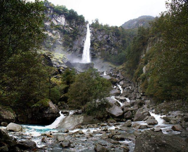 Beautiful Waterfalls in Switzerland - Foroglio Falls