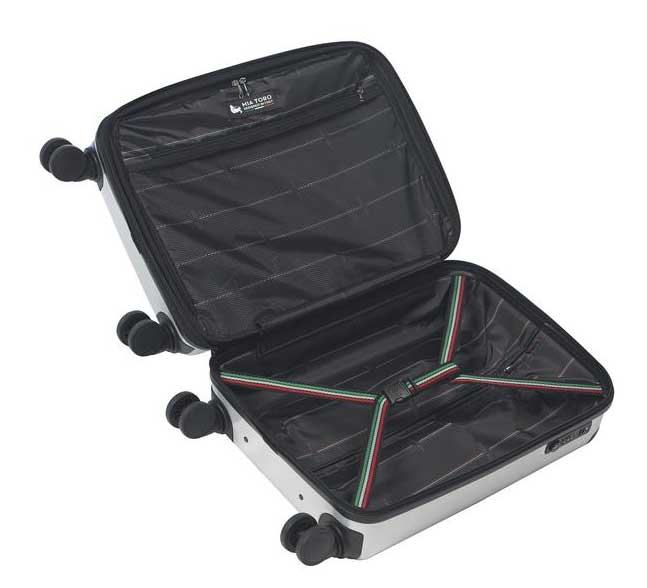 Mia Toro Italy Tasca Fusion Hardside Spinner Carry-on Red
