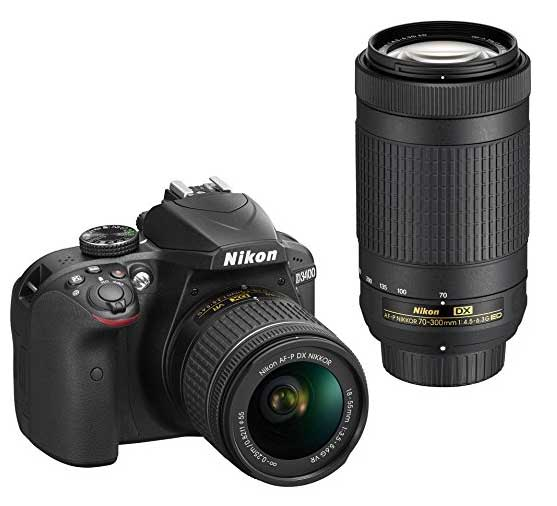 Nikon D3400 With Telescopic Lens