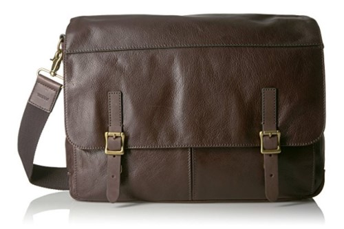 Fossil Defender Leather Messenger Bag