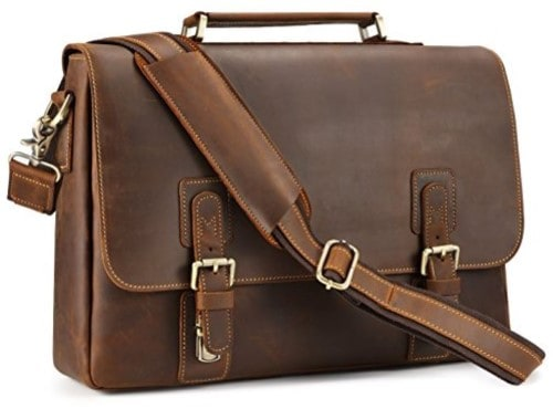Kattee Men's Leather Messenger Bag