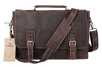 S-Zone Crazy-Horse Leather Business Bag
