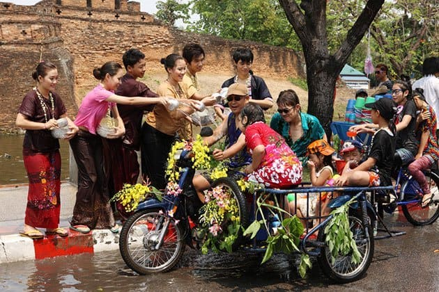 Songkran Water Festival in Thailand 2019