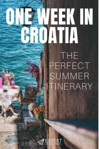 Croatia is the top summer destination in the Mediterranean. If it's already on your radar, come check out our perfect summer itinerary for Croatia. It will be a week you will never forget!