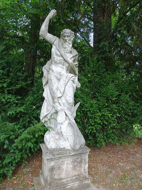 Konopiste Garden Statue