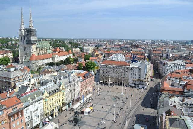 Zagreb Ban Jelacic Square