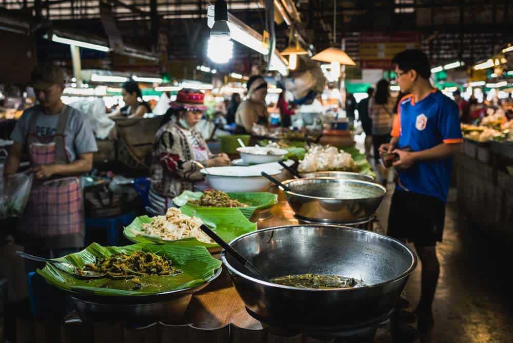 night market food thailand