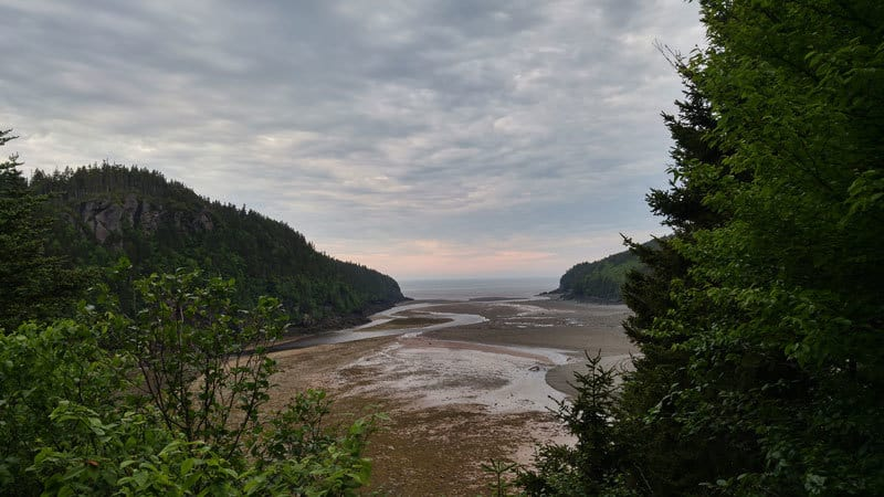 Point Wolfe River: Lookout from the Shiphaven trailhead, overlooking Point Wolfe River and Bay of Fundy in distance
