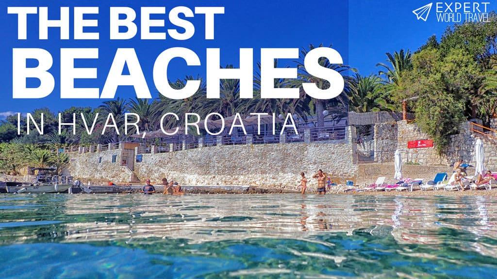 best beaches hvar croatia