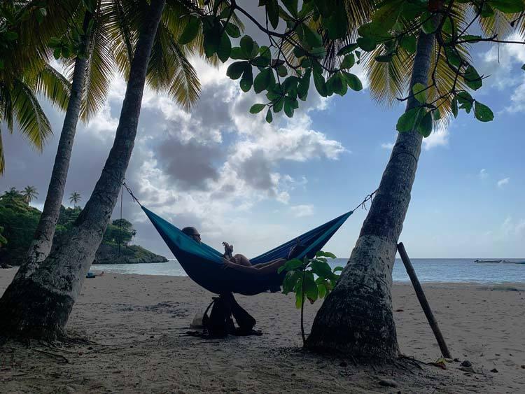 Romantic Time in Hammock, Fresh Water Bay, Providencia