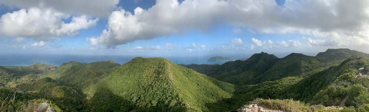 View from The Peak hike, Providencia