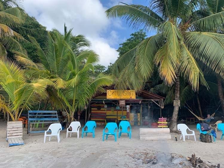 Typical beach bar - South West Bay, Providencia