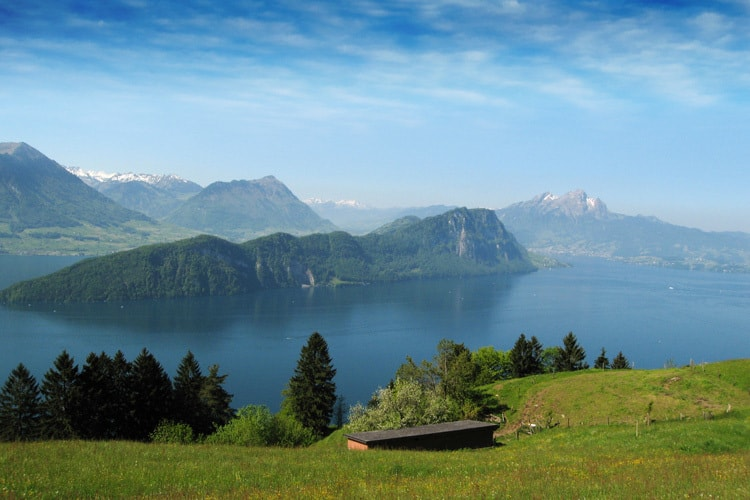 bergenstock from mount rigi lucerne