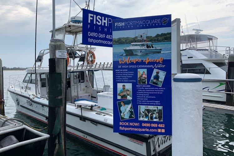 fishing boat trips rental port macquarie