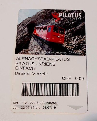 Mt Pilatus Train & Gondola Ticket