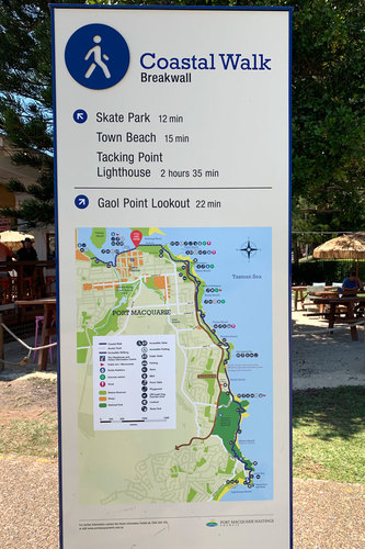 port macquarie coastal walk map