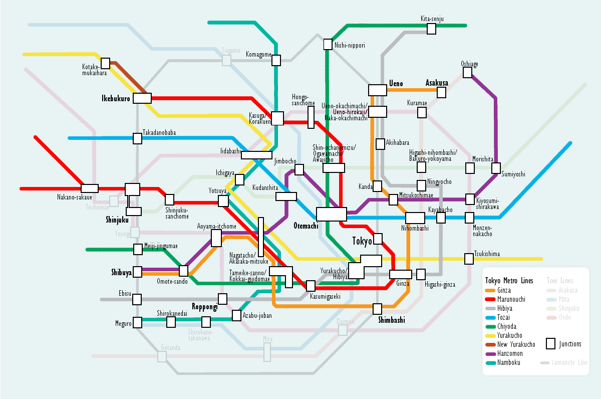 Used Bugs To Map Tokyo Subway Map.Getting Around Tokyo Subways Trains More Expert World Travel