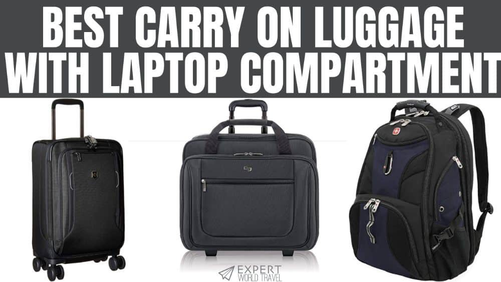 Carry On Luggage Laptop Compartment