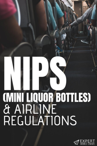 Wondering if you're allowed to have nips in your carry on luggage? You are, as long as you follow the rules. And we'll tell you exactly how to do that!