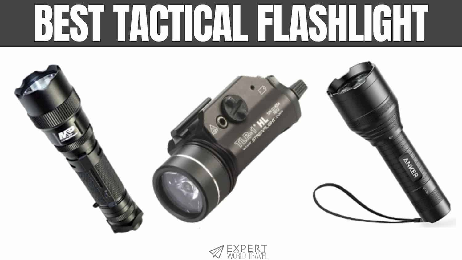 Rechargeable 26650 Batt Anker Ultra-Bright Tactical Flashlight with 1300 Lumens