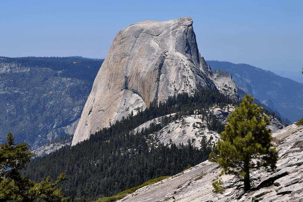cloud's rest view of half dome