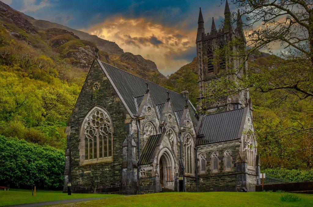 Gothic Church at Kylemore Abbey Connemara