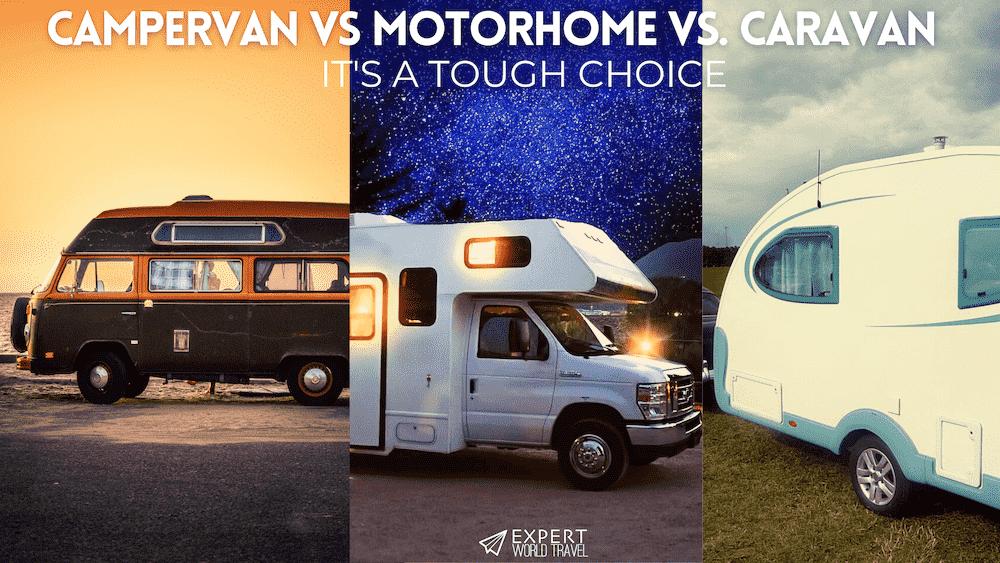 campervan vs motorhome vs campervan