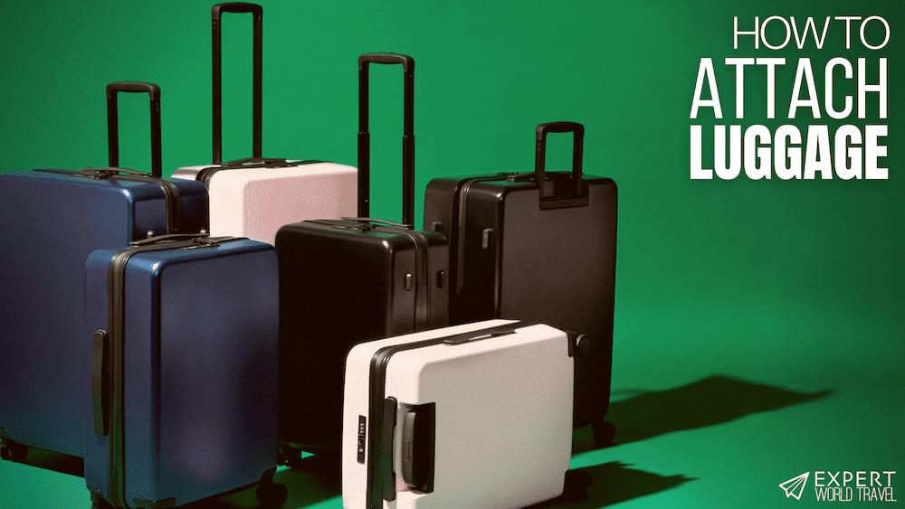 different ways attach luggage