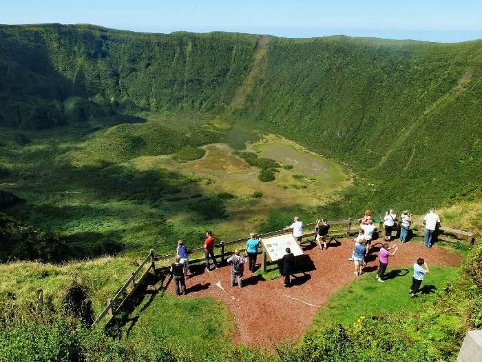 Faial Island Crater
