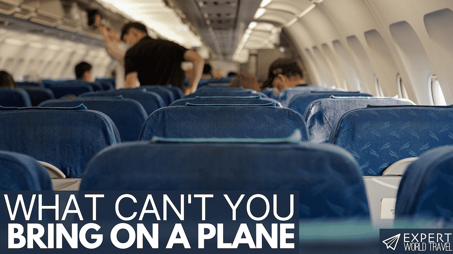 what you can't bring on a plane
