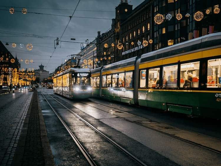 Mannerheimintie street in Helsinki