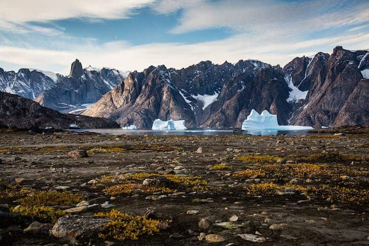 mountains in greenland
